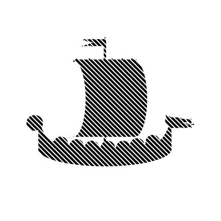 drakkar: Drakkar sign on white background. Vector illustration.