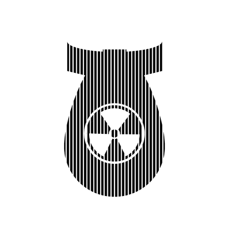 devastation: Bomb sign on white background. Vector illustration. Illustration