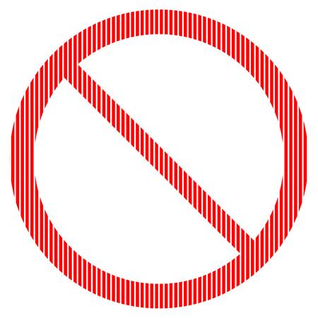 warning indicator: No sign on white background. Vector illustration.