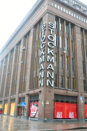 household goods: HELSINKI, FINLAND - 17 JULY 2015: Building store Stockmann in Helsinki. Finnish retailer and the same name network of shops selling clothes and household goods. Headquarters - in Helsinki.