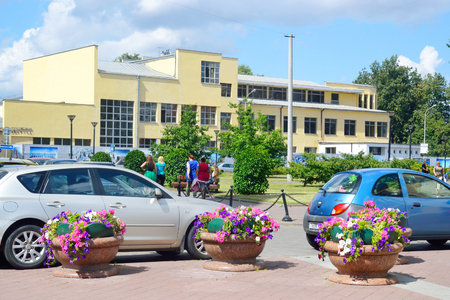 minsk: MINSK, BELARUS - JULY 30, 2015: Street in central part of Minsk at summer sunny day, Belarus.