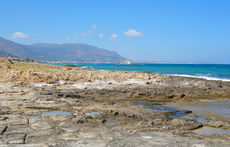 aegean sea: The shores of the Aegean Sea in Crete, Greece. Stock Photo