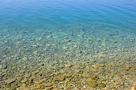 ionian: Clear water in the Ionian Sea with a rocky bottom.