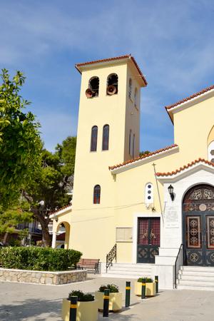 pacification: The Orthodox Church Ekklisia Agios Ioannis in Loutraki town, Greece.