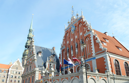 House of the Blackheads in old town of Riga, Latvia.