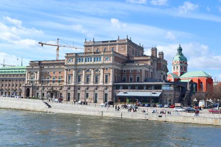 Royal Opera in Stockholm at sunny spring day, Sweden.