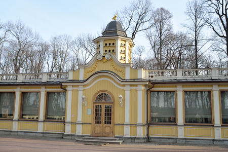 poultry yard: Poultry yard building in Summer Garden in St.Petersburg at sunny spring evening, Russia