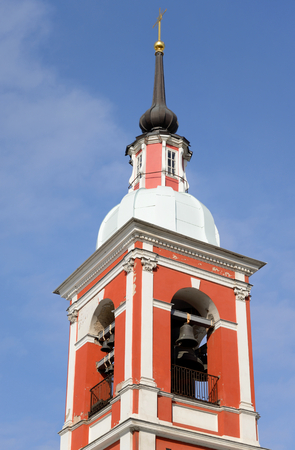 healer: Bell tower of Holy Great Martyr and Healer Panteleimon church in St.Petersburg, Russia.