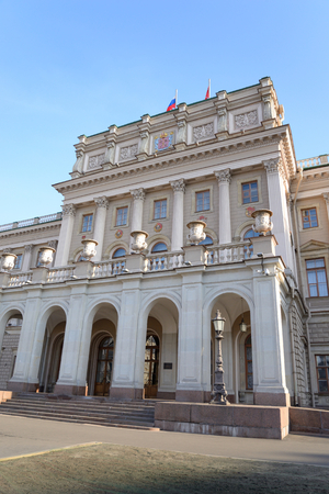 legislative: View of Mariinsky Palace in St.Petersburg, Russia. Since 1994 - a place of meeting of the city parliament - the Legislative Assembly of St. Petersburg.