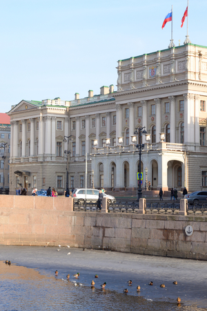 legislative: ST.PETERSBURG, RUSSIA - MARCH 27, 2016: View of Mariinsky Palace in St.Petersburg, Russia. Since 1994 - a place of meeting of the city parliament - the Legislative Assembly of St. Petersburg. Editorial
