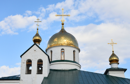 outskirts: Holy Trinity Cathedral in Kolpino town on the outskirts of St. Petersburg, Russia. Stock Photo