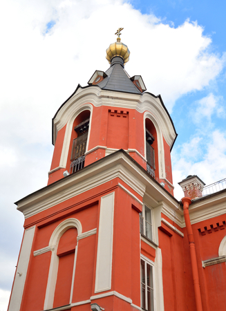 eclecticism: Church of the Ascension in Kolpino town on the outskirts of St. Petersburg, Russia.