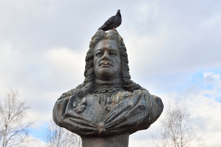 statesman: ST.PETERSBURG, RUSSIA - APRIL 16, 2016: Monument to Alexander Danilovich Menshikov in Kolpino. Russian statesman and military leader, a favorite of Peter I.
