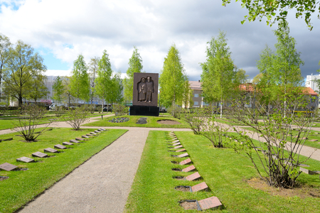 military cemetery: LAPPEENRANTA, FINLAND - MAY 11, 2016: Old military cemetery in the center of Lappeenranta. Lappeenranta - city and municipality in Finland, in the province of Eastern Finland.