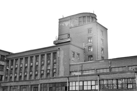 kirov: ST.PETERSBURG, RUSSIA - 22 MAY, 2016: The Palace of Culture named after Sergey Myronovych Kirov. Construction 1930-1937 years. The architect Noi Trotsky. Black and white. Editorial