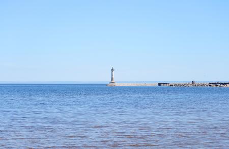 isthmus: Ladoga lake at sunny morning, the Karelian Isthmus.