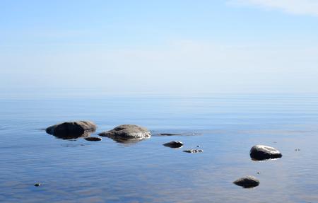 Ladoga lake at sunny morning, the Karelian Isthmus.