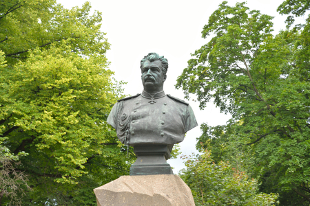nikolay: ST.PETERSBURG, RUSSIA - 3 JULE 2016: Monument to Nikolay Przhevalsky in St. Petersburg is located in the Alexander Garden in the Admiralty district.