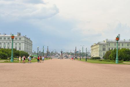 jule: ST.PETERSBURG, RUSSIA - 3 JULE 2016: View of Field of Mars at cloud evening in St. Petersburg. Area in the center of St. Petersburg.