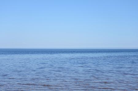 ladoga: Ladoga lake at sunny day, the Karelian Isthmus. Stock Photo