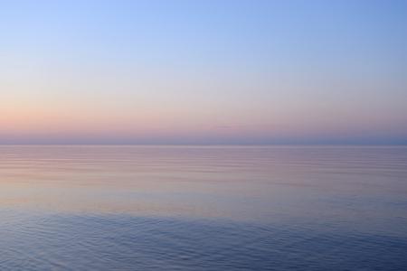 ladoga: Ladoga lake at sunsset, the Karelian Isthmus. Stock Photo