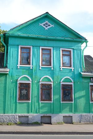 jule: ST.PETERSBURG, RUSSIA - 10 JULE, 2016: The old wooden building in Sestroretsk on the outskirts of St.Petersburg.