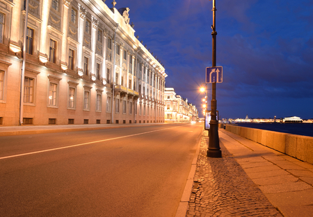 marble palace: Marble Palace and embankment of Neva River, in St. Petersburg, Russia.