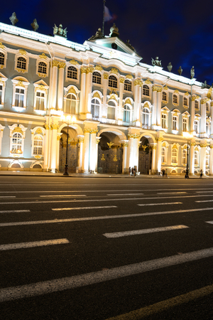 significant: View of Hermitage Museum at night, St.Petersburg. One of the largest and most significant art and historical museums in Russia and abroad. Editorial