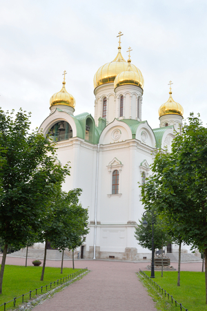pushkin: Cathedral of St. Catherine in Tsarskoye Selo at evening, suburb of St.Petersburg, Russia.