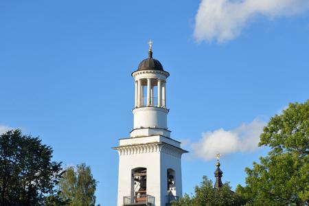 Church of St. Alexander Nevsky in Ust-Izhora town, St.Petersburg suburb, Russia. Stock Photo