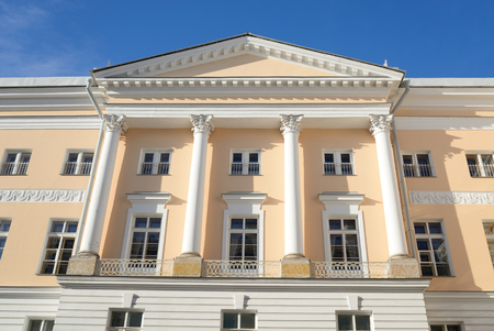 city pushkin: Building of Tsarskoye Selo Lyceum in Pushkin City, suburb of St.Petersburg, Russia. Editorial