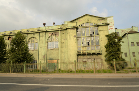 electric power station: Old electric power station Red October, St.Petersburg, Russia. Building built in the 20 years of the 20th century. Stock Photo