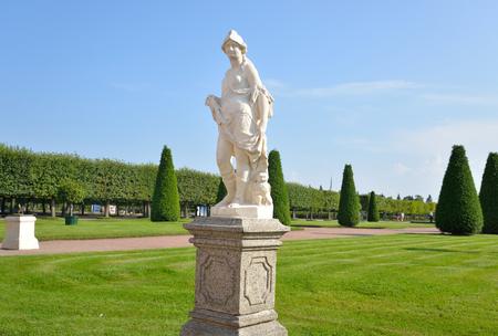 Statue in Upper Park in Pertergof near St.Petersburg, Russia. Stock Photo