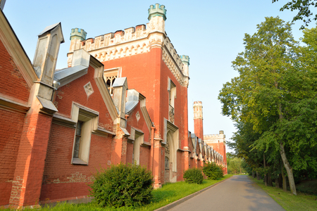 petergof: Imperial stables built in the style of English Gothic in Petergof near St.Petersburg, Russia. Architect Benois, were built - from 1848 to 1855.
