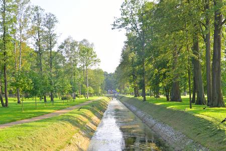 petergof: Canal in Alexandra Park in Petergof near St.Petersburg, Russia.