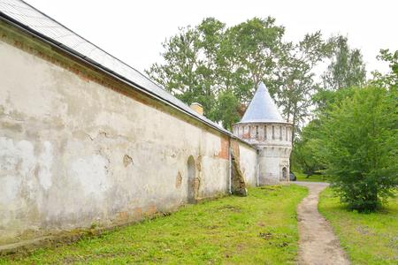 pushkin: Abandoned building of Feodorovsky gorodok in Tsarskoe Selo, suburb of St.Petersburg, Russia.