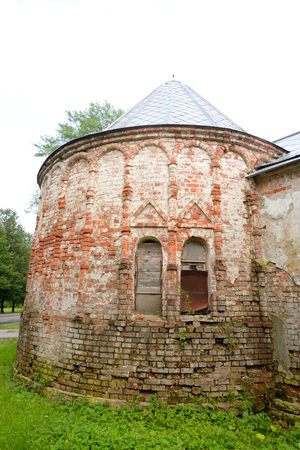 Abandoned building of Feodorovsky gorodok in Tsarskoe Selo, suburb of St.Petersburg, Russia.