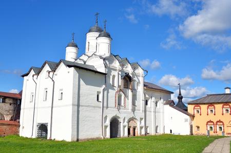 leningrad: Gate Church of the Transfiguration in Kirillo-Belozersky monastery near City Kirillov, Vologda region, Russia.