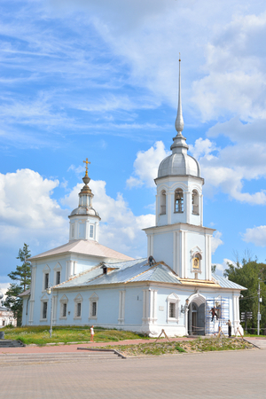 Alexander Nevsky Church - Orthodox church in Vologda, an architectural monument of regional significance of the XVIII century, Russia.