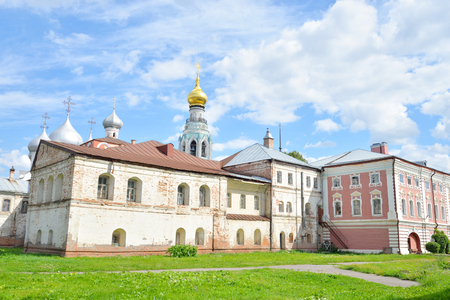 decrepitude: Sophia Cathedral and Bishops yard in Vologda, Russia. Stock Photo