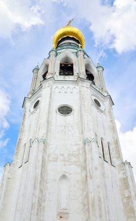 Bell tower of Sophia Cathedral - Orthodox church, now a museum in Vologda, Russia. Erected in 1568 - 1570 years on the orders of Ivan the Terrible Stock Photo