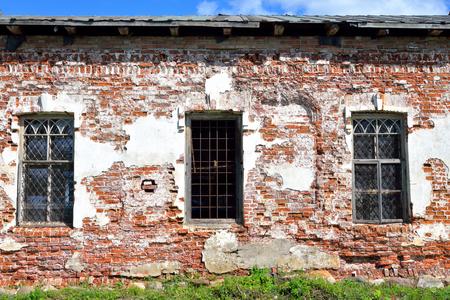 decrepitude: Old building in Kirillo-Belozersky monastery by day near City Kirillov, Vologda region, Russia. Stock Photo