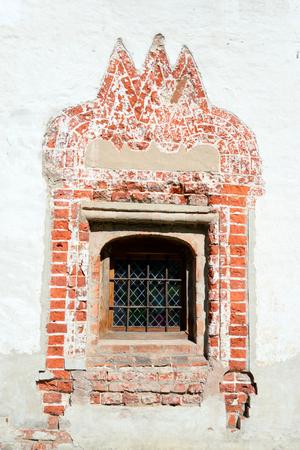 Window of old building in Kirillo-Belozersky monastery, Russsia.