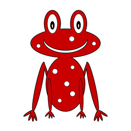 croaking: Frog icon on white background. Vector illustration.