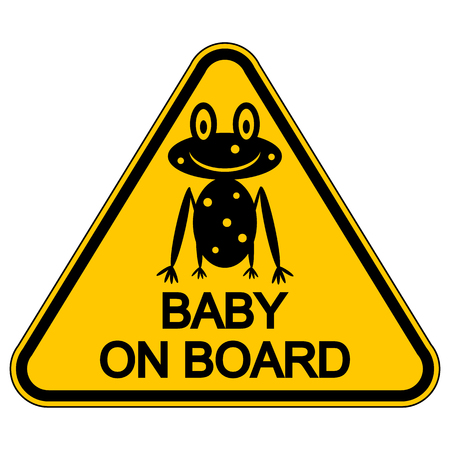 bebe a bordo: Baby on board sign on white background. Vector illustration.