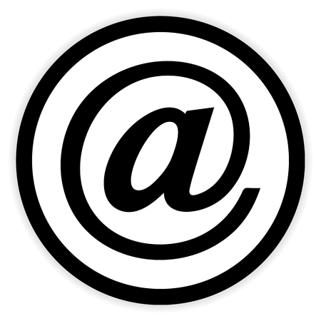 outlook: Email button on white background. Vector illustration. Illustration