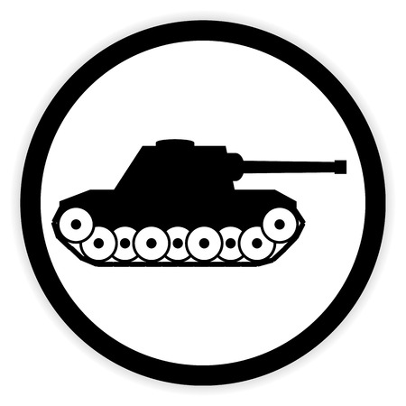 wwii: Panzer button on white background. Vector illustration. Illustration
