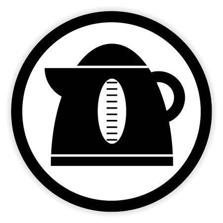 electric kettle: Electric kettle button on white background. Vector illustration. Illustration