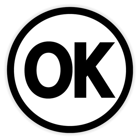 ok button: Ok button on white background. Vector illustration. Illustration