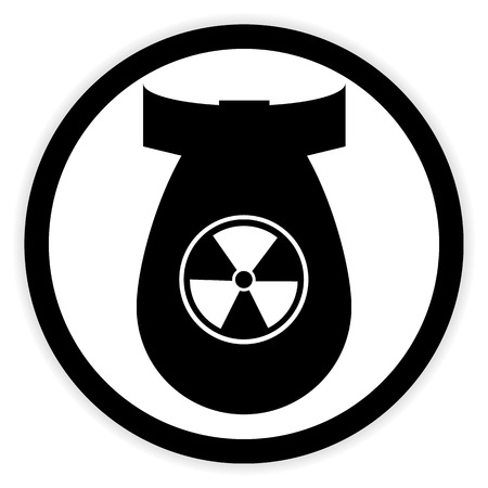 airforce: Bomb button on white background. Vector illustration. Illustration